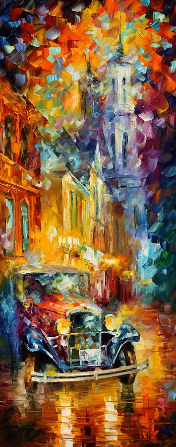 Afremov Painting Palette Knife Art Handmade Surreal Abstract Oil Landscape Original Realism Unique Special Life Color Beauty Admiring Light Reflection Piece Renown Authenticity Smooth Certificate Colorful Beauty Painting - 1930s by Leonid Afremov