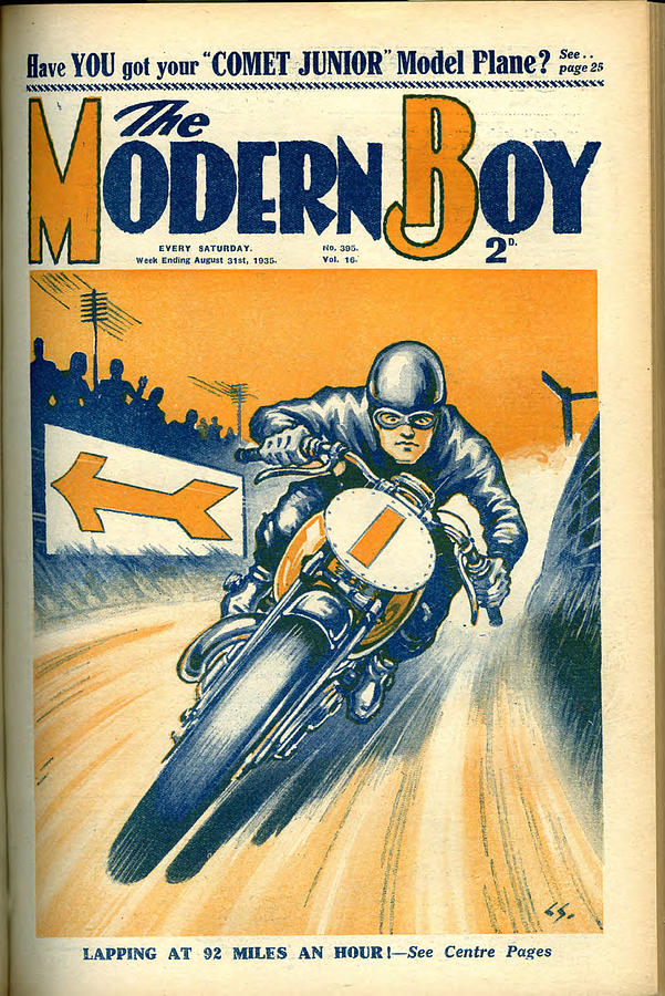 Comic Cover Photograph - 1930s Uk The Modern Boy Magazine Cover by The Advertising Archives
