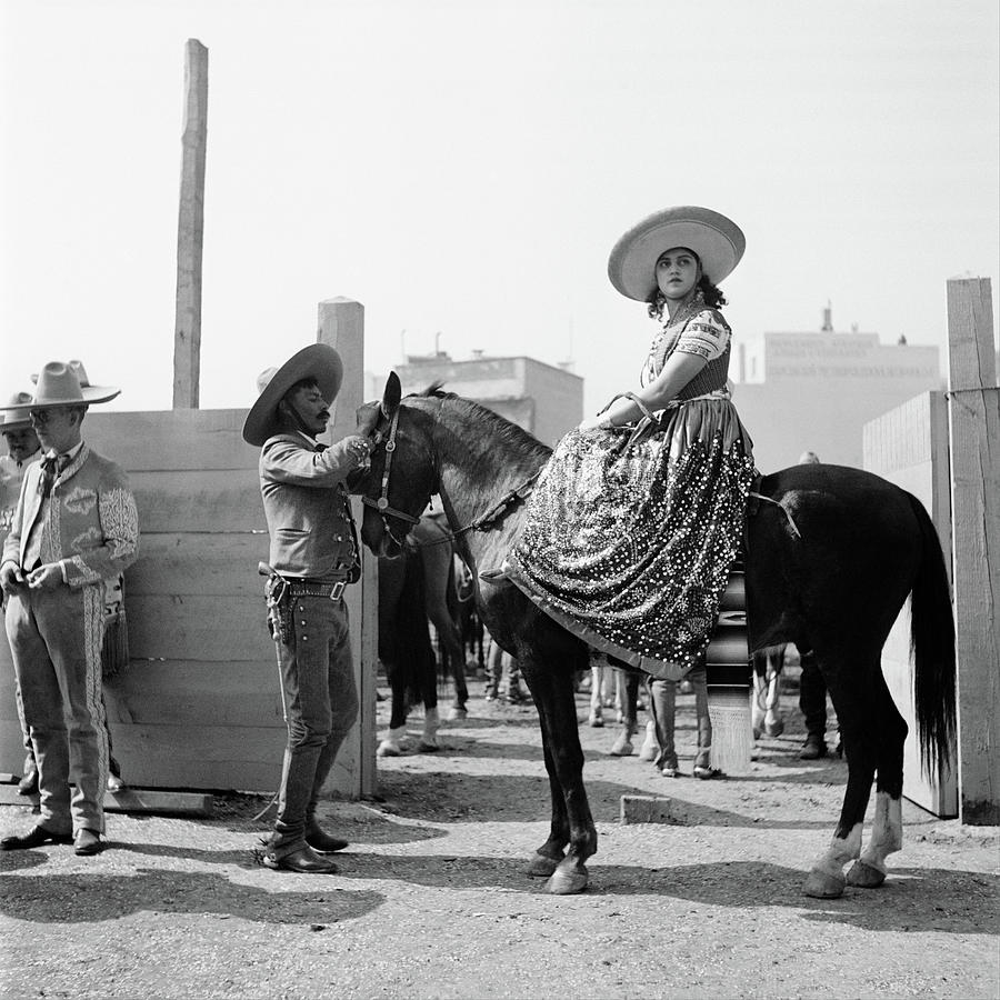 Horizontal Photograph - 1930s Woman Sitting On Horse Wearing by Vintage Images