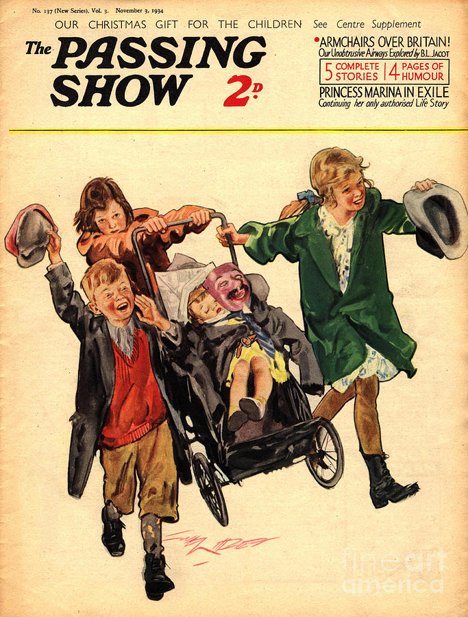 Guy Drawing - 1930s,uk,the Passing Show,magazine Cover by The Advertising Archives