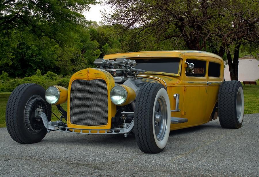 1931 Ford Custom Sedan Rat Rod Photograph by Tim McCullough