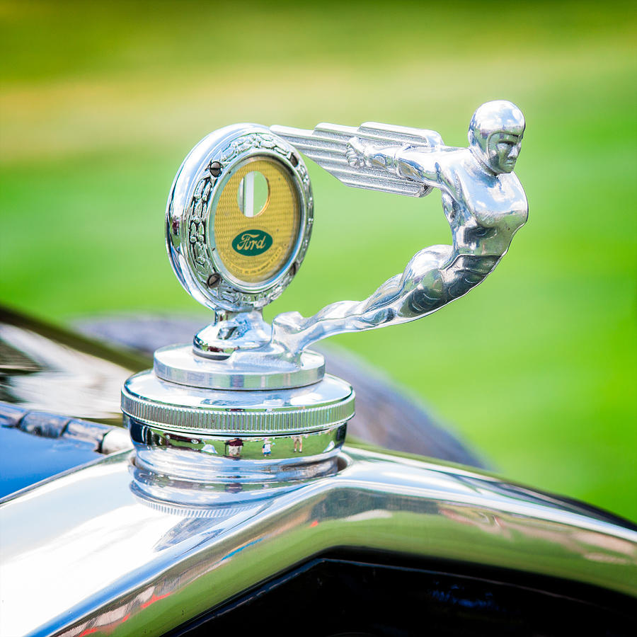 1931 Ford Model A Photograph - 1931 Ford Model A Deluxe Fordor Hood Ornament by Sebastian Musial