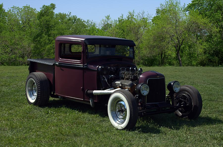 1931 Ford Pickup Hot Rod Photograph by Tim McCullough
