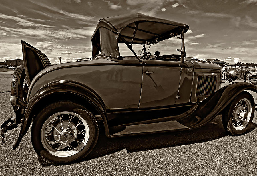Ford Photograph - 1931 Model T Ford Monochrome by Steve Harrington