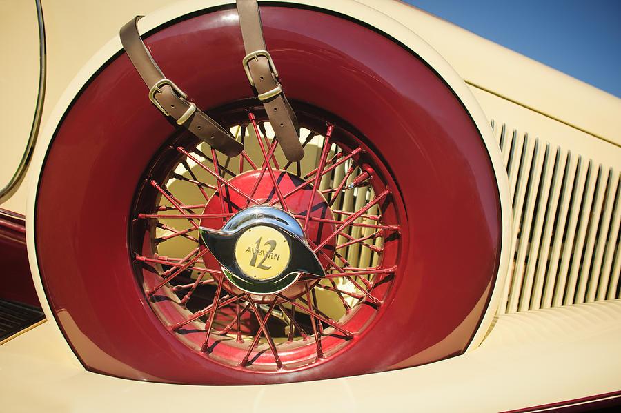 1933 Auburn 12-161A Custom Speedster Spare Tire Emblem by Jill Reger