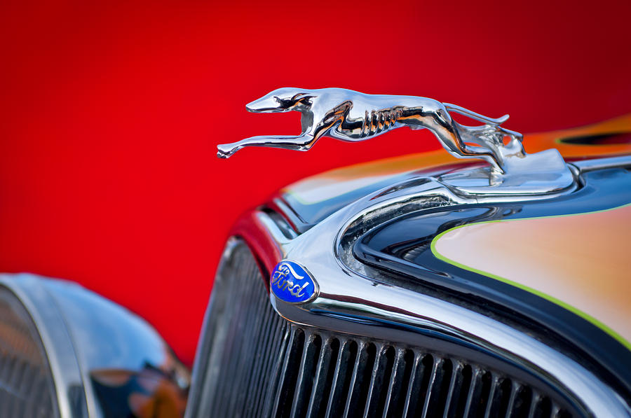 1933 Ford Photograph - 1933 Ford Hood Ornament by Jill Reger