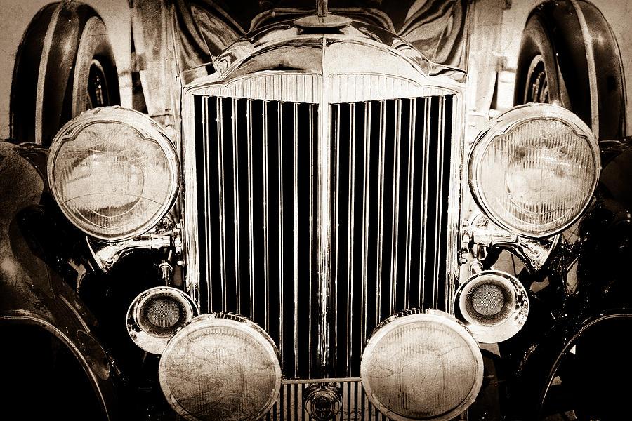 1933 Packard Photograph - 1933 Packard 12 Convertible Coupe Classic Car by Jill Reger