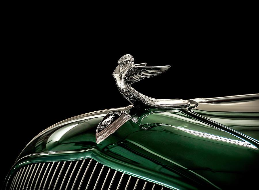 Vintage Digital Art - 1933 Plymouth Mascot by Douglas Pittman