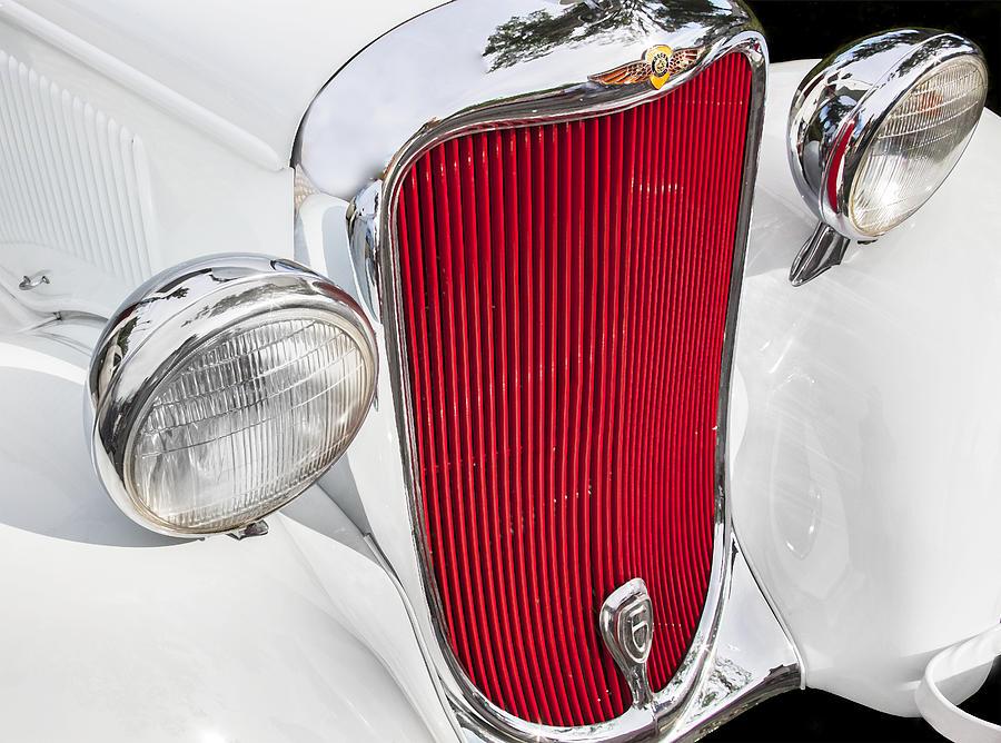 Dodge Photograph - 1933 White Dodge Sedan by Rich Franco