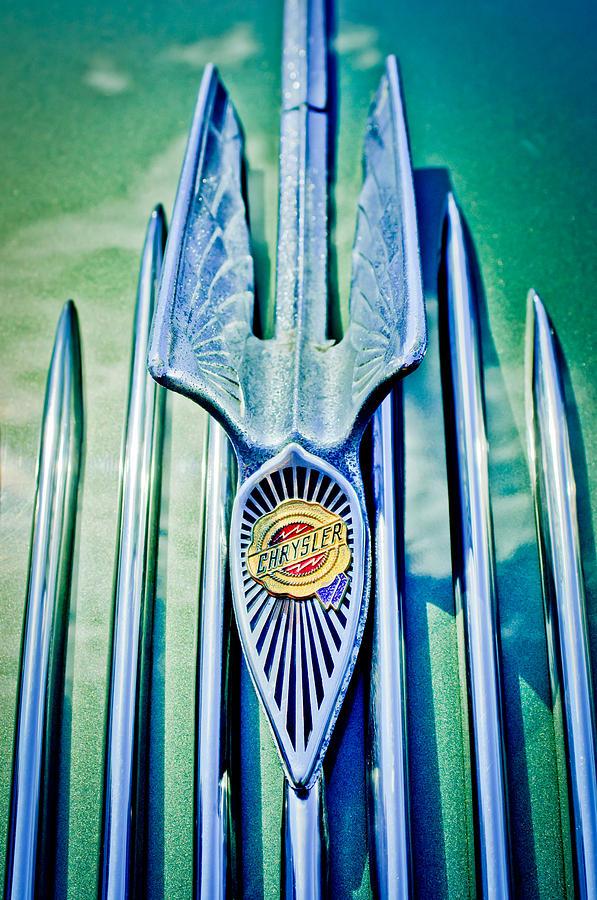Hood Ornaments Photograph - 1934 Chrysler Airflow Hood Ornament 2 by Jill Reger