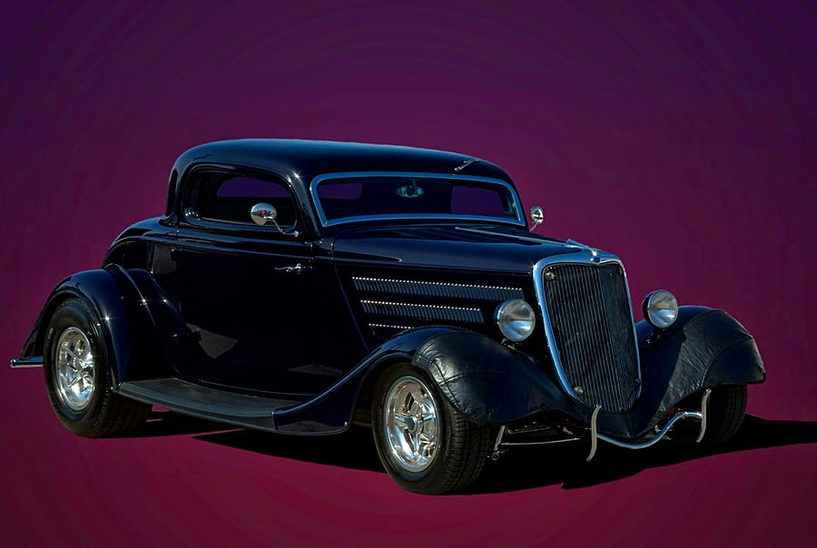 1934 Ford 3 Window Coupe Hot Rod Photograph by Tim McCullough