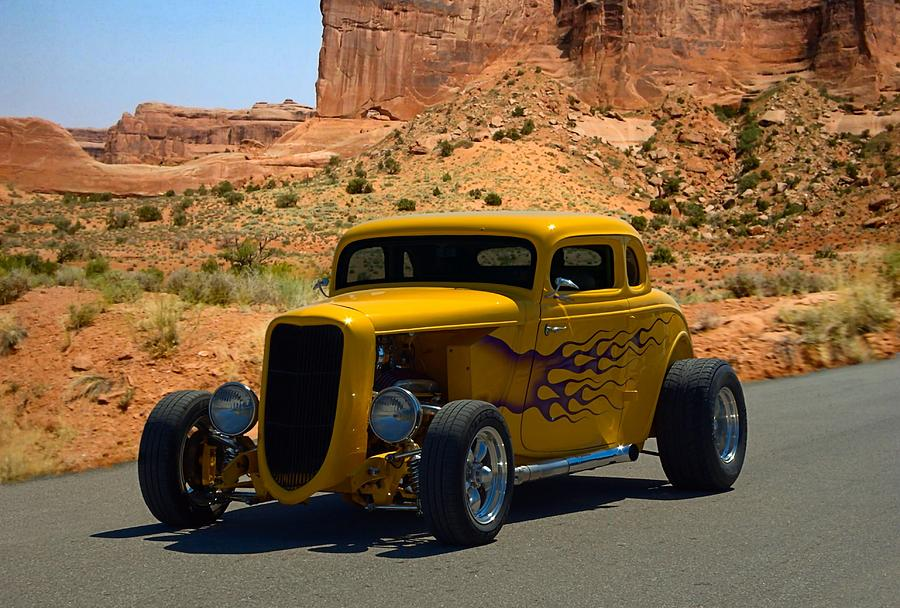 1934 Ford 5 Window Coupe Hot Rod Photograph by Tim McCullough