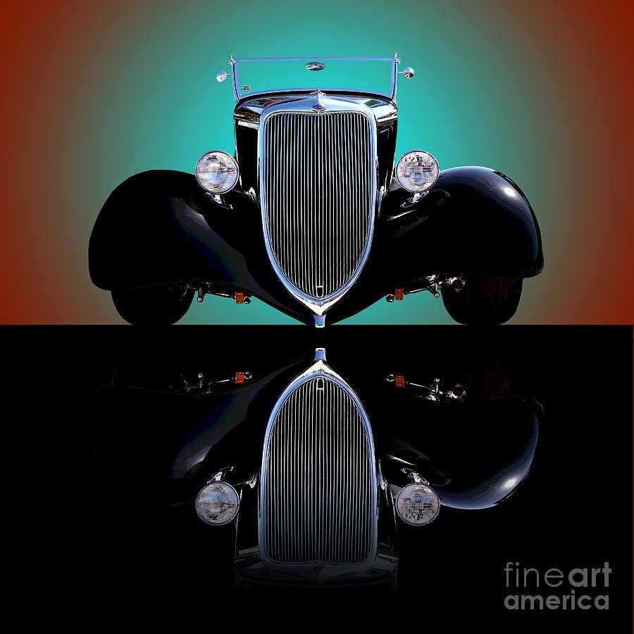 Car Photograph - 1934 Ford Phaeton Convertible by Jim Carrell