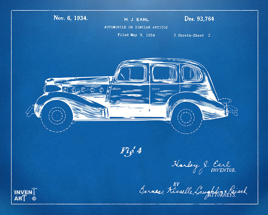 1934 la salle automobile patent 3 artwork blueprint digital art by la salle digital art 1934 la salle automobile patent 3 artwork blueprint by nikki marie malvernweather Images