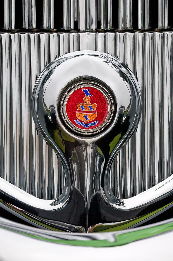 Emblem Photograph - 1935 Pierce-arrow 845 Coupe Emblem by Jill Reger