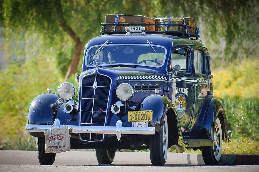 Plymouth Taxi Cab Photograph - 1935 Plymouth Taxi Cab by Jill Reger