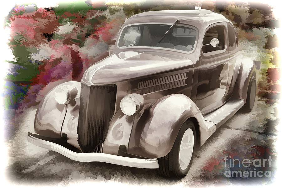 Vintage Car Paintings 1936 Ford Classic Car ...