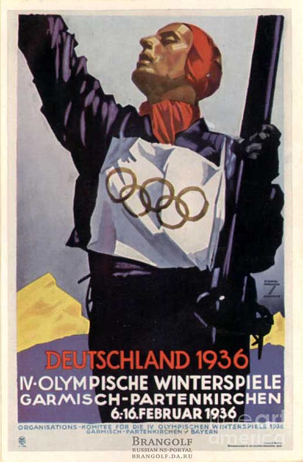 Olympics Painting - 1936 Winter Olympics by Unknown