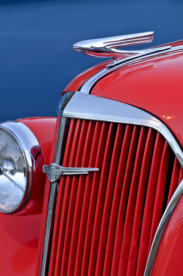 Chevy T Shirts >> 1937 Chevrolet Hood Ornament Photograph by Jill Reger