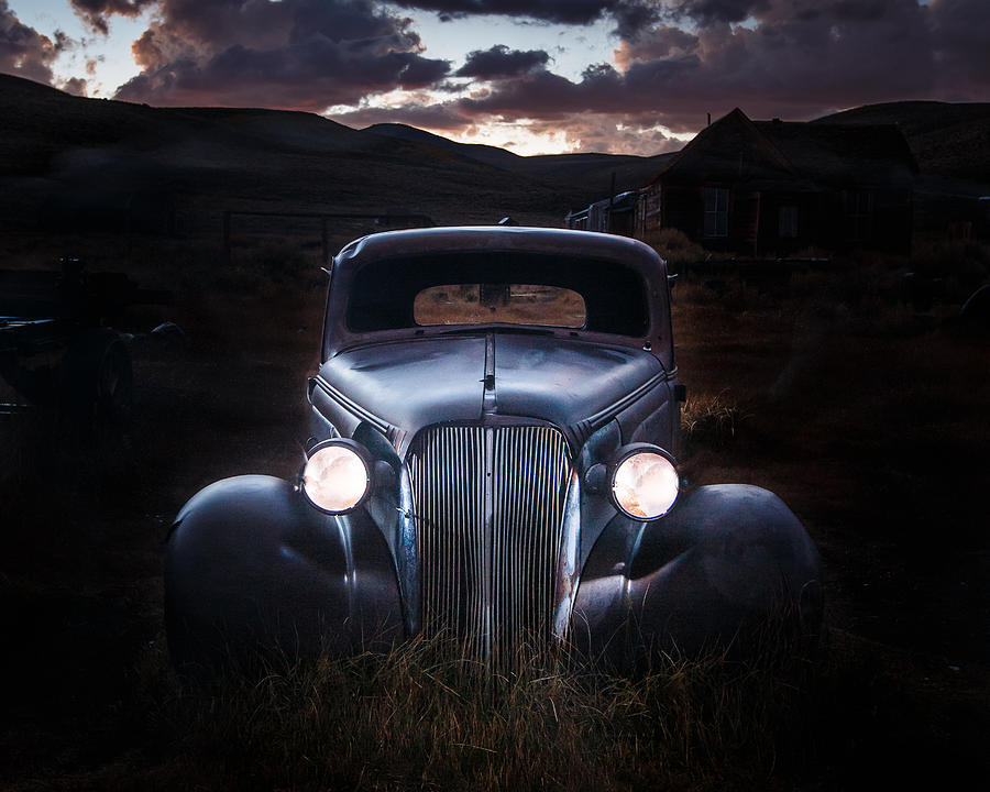 Chevy Photograph - 1937 Chevy At Dusk by Jeff Sullivan