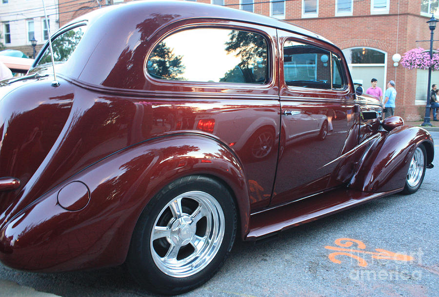 1937 chevy two door sedan rear and side view photograph by for 1937 chevy 2 door