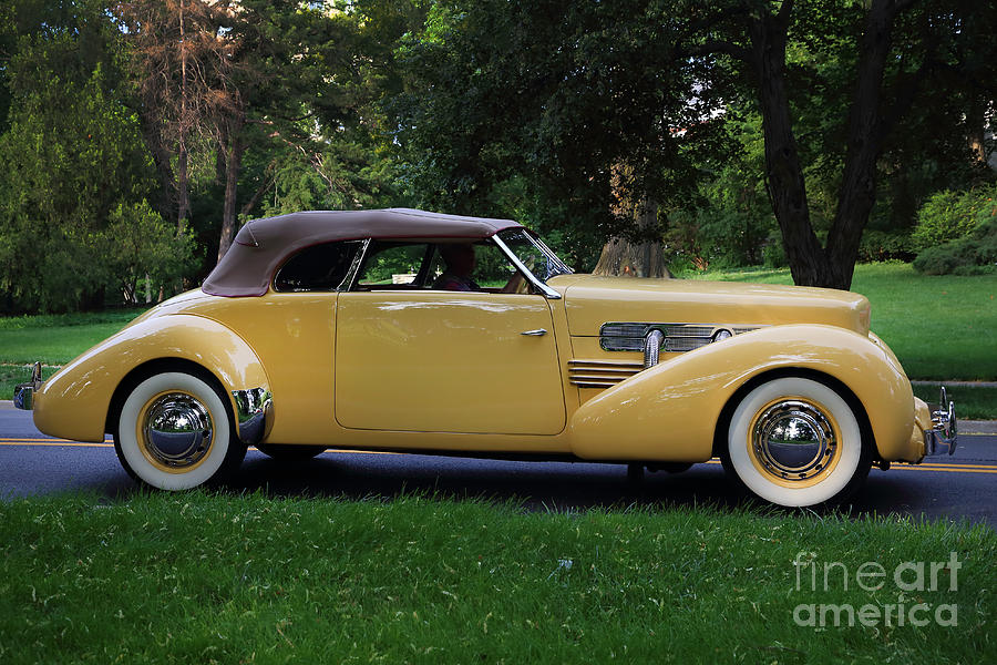 1937 Cord Photograph - 1937 Cord Convertible by Dennis Hedberg