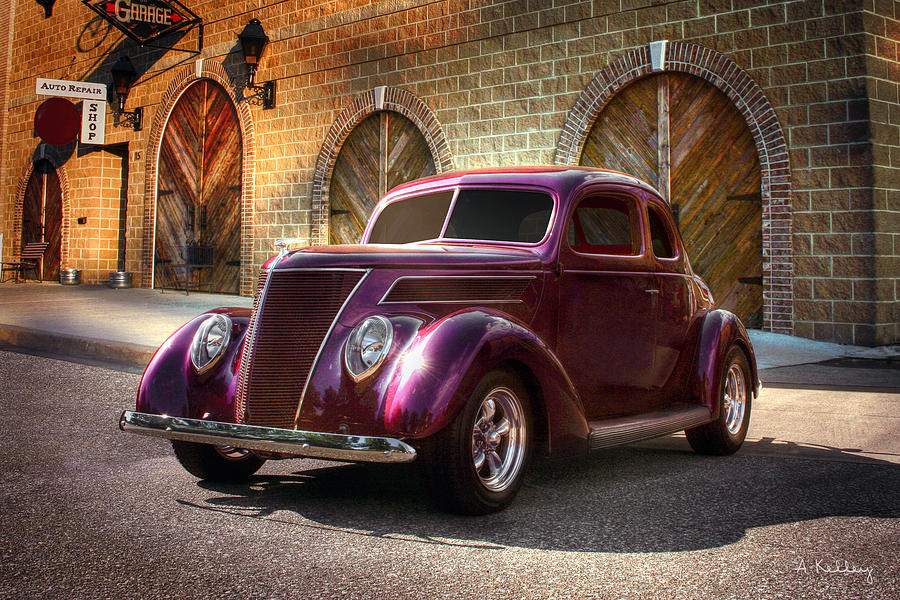 Antique Car Photograph - 1937 Ford by Andrea Kelley