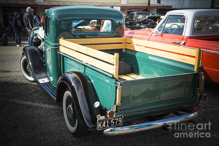 1937 Ford Pickup Truck Bed Classic Car Photograph In Color 3312