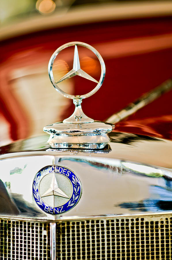 Hood Ornament Photograph - 1937 Mercedes-benz Cabriolet Hood Ornament by Jill Reger