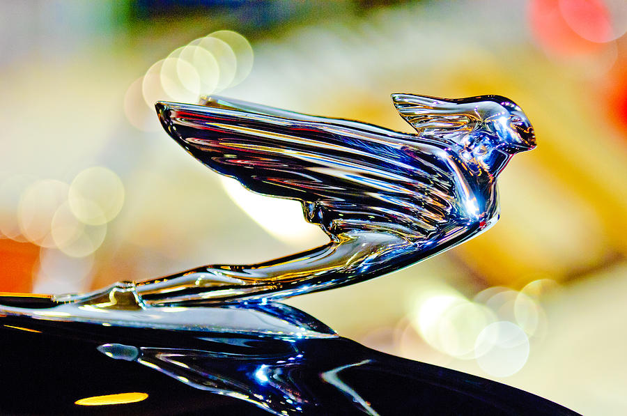 1938 Cadillac V-16 Sedan Photograph - 1938 Cadillac V-16 Hood Ornament 2 by Jill Reger