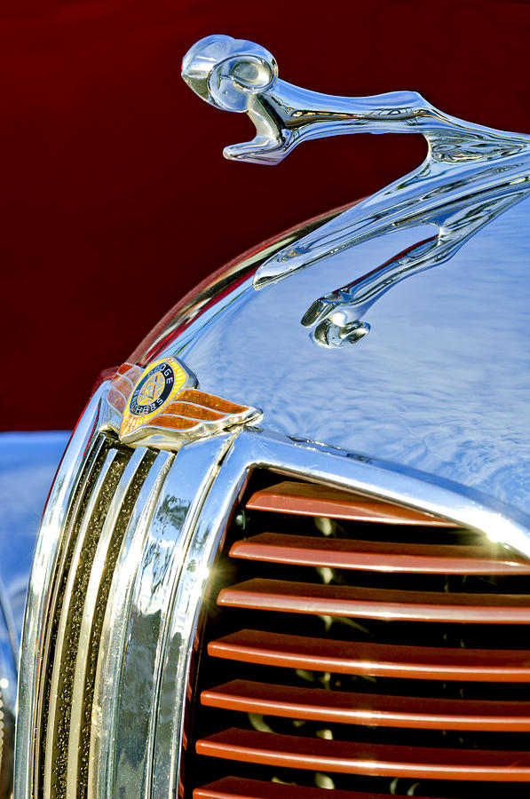 Dodge Brothers Photograph - 1938 Dodge Ram Hood Ornament 3 by Jill Reger