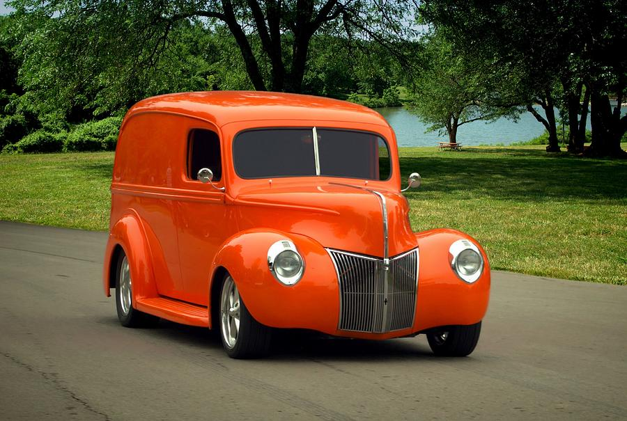 1940 Ford Panel Truck Photograph by Tim McCullough
