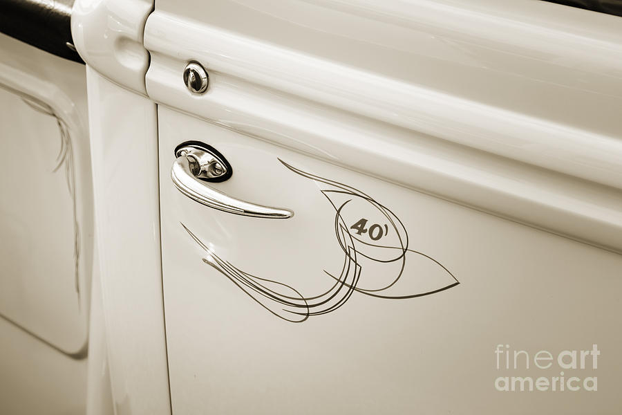 1940 Ford Pickup Truck Door Handle Car Or Automobile In Sepia 3 ...