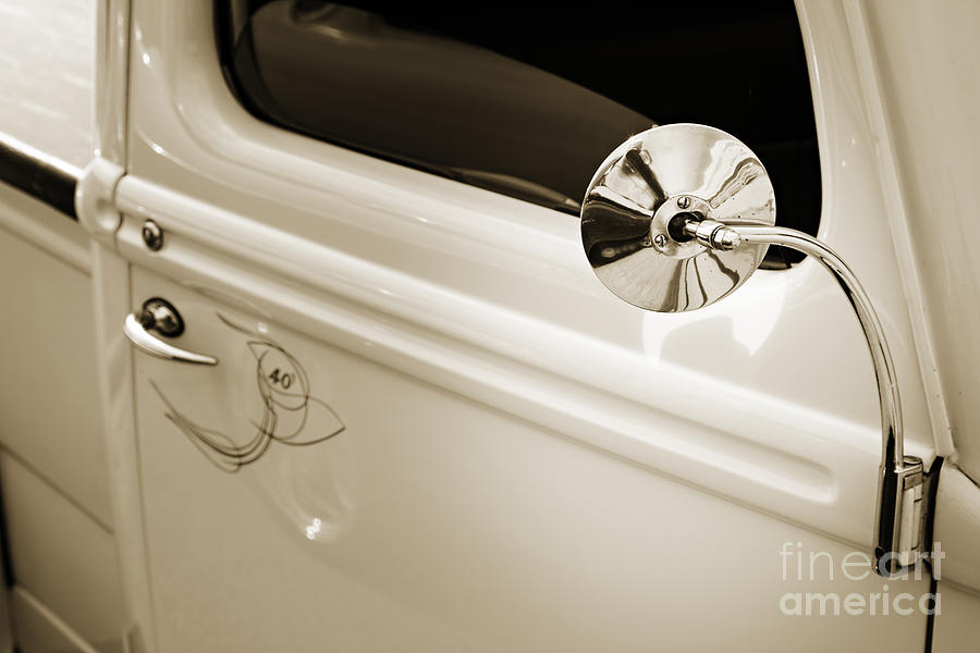 1940 Ford Pickup Truck Mirror Car Or Automobile In Sepia 3138.0 ...
