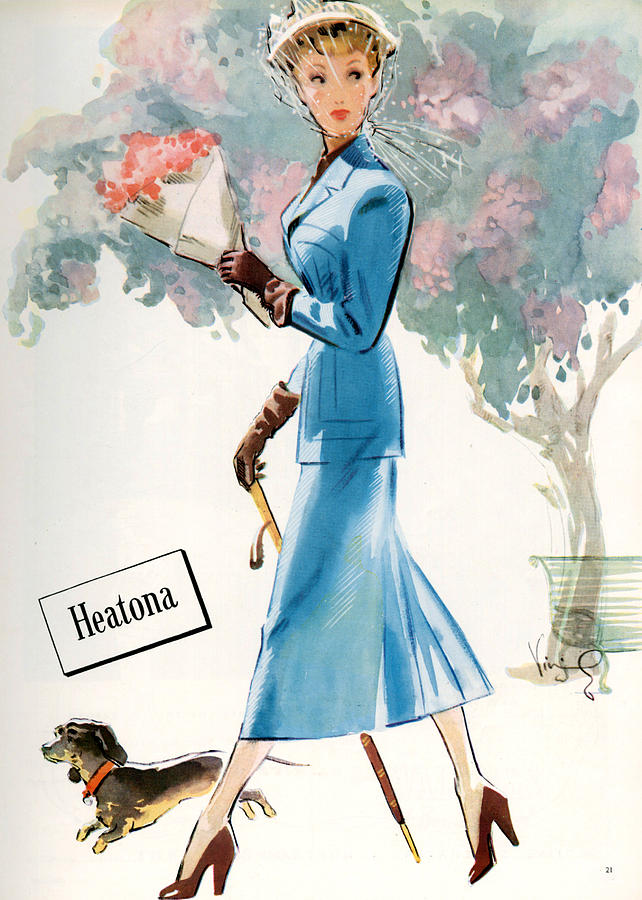 Dogs Photograph - 1940s Uk Heatona Magazine Advert by The Advertising Archives