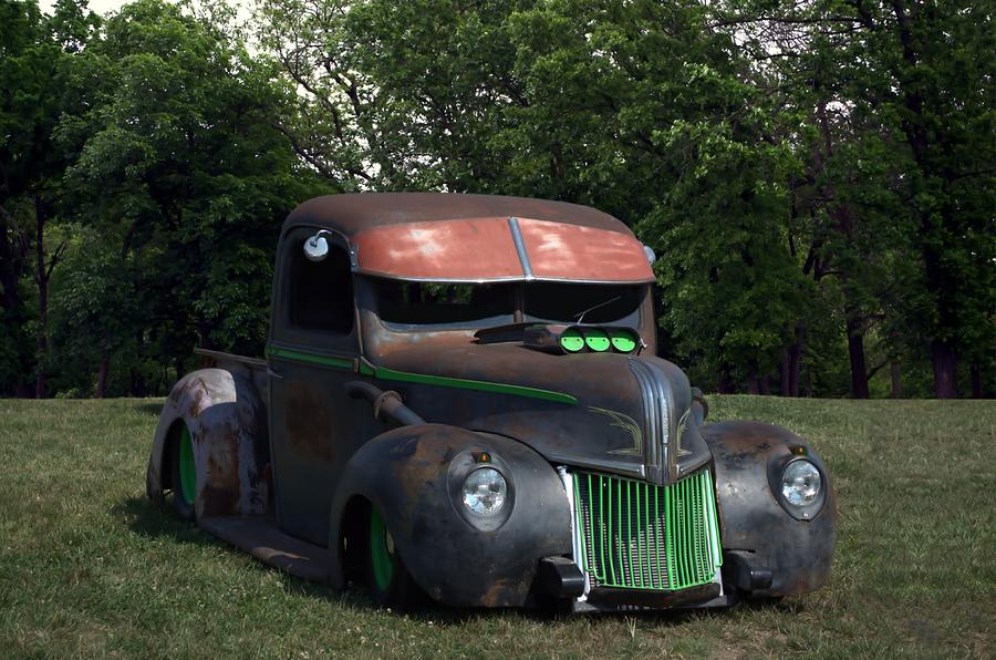 1941 Ford Pickup Rat Rod Photograph by TeeMack
