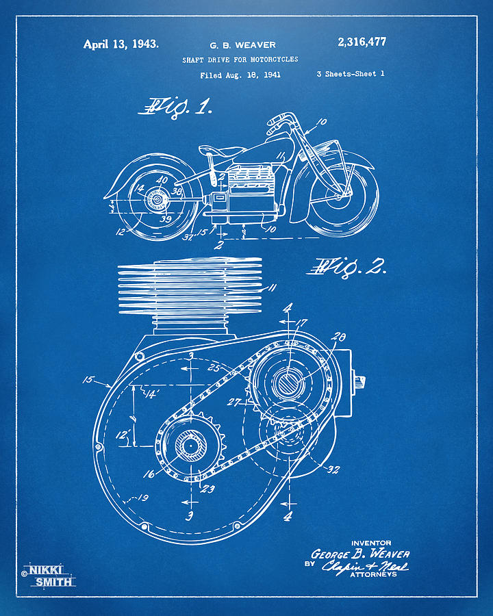 1941 indian motorcycle patent artwork blueprint digital art by indian motorcycle digital art 1941 indian motorcycle patent artwork blueprint by nikki marie smith malvernweather