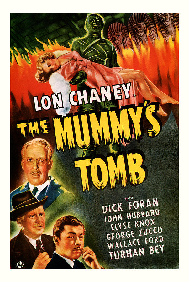 Sci Fi Mixed Media - 1942 The Mummys Tomb Vintage Movie Art by Presented By American Classic Art