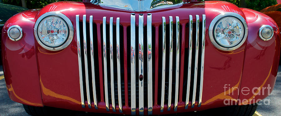 Boring Photograph - 1947 Ford Truck Grill by Mark Dodd