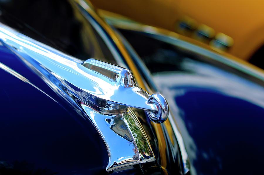 1947 Packard Photograph - 1947 Packard Hood Ornament 4 by Jill Reger