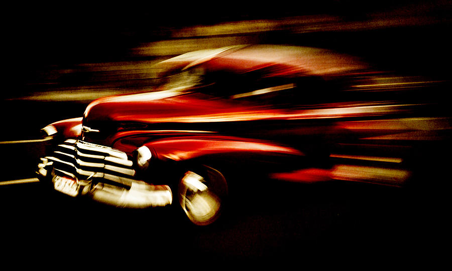 Classic Chevy Photograph - 1947 Red Chevrolet by Phil motography Clark
