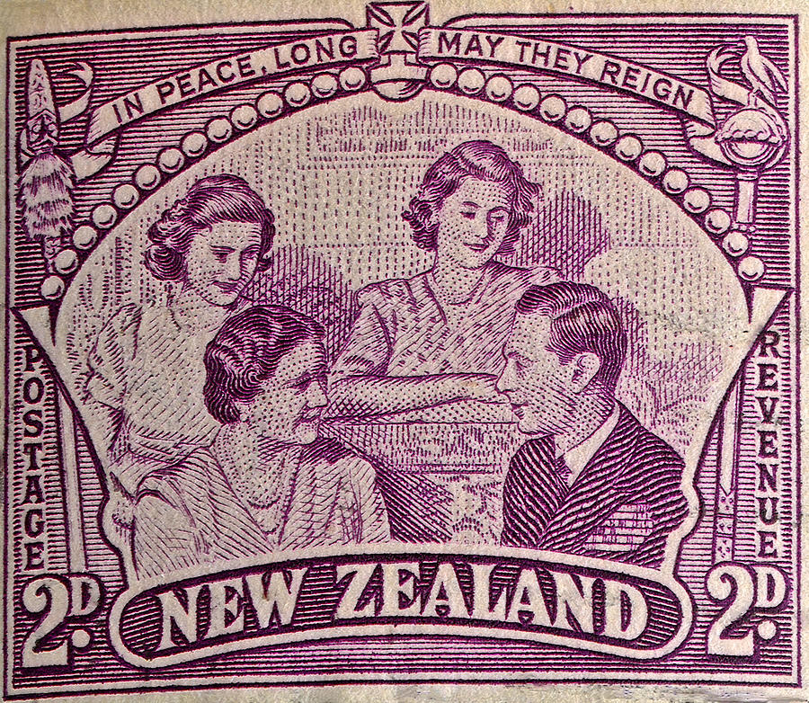 1948 British Royal Family New Zealand Stamp Photograph by Bill Owen