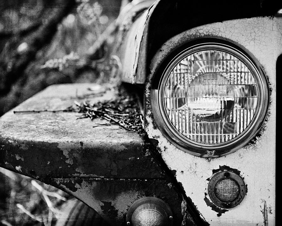 Jeep Photograph - 1948 Jeep Willys in Black and White by Lisa R