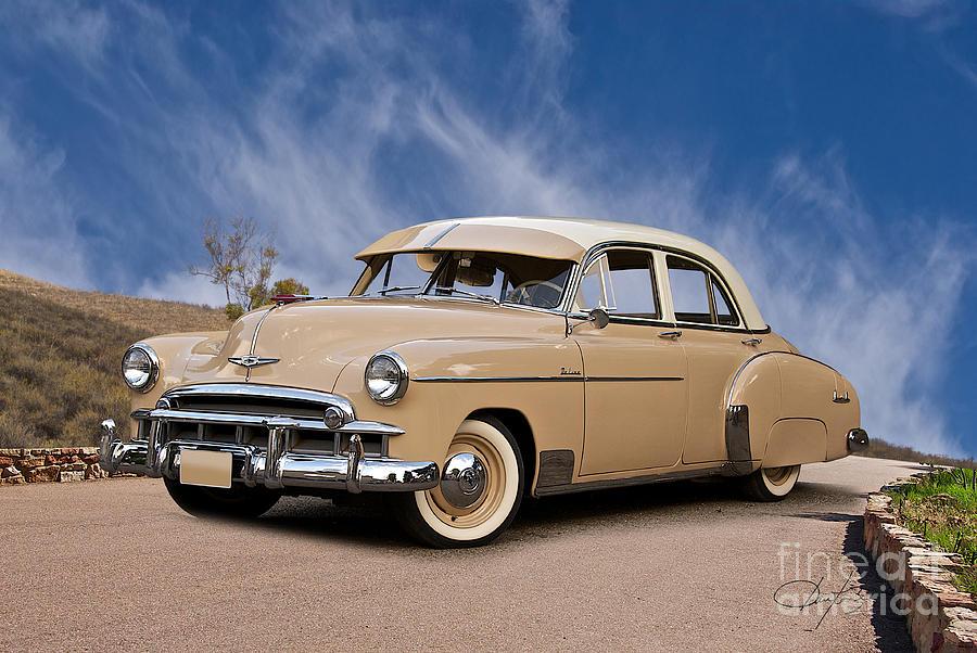 1949 Chevrolet Deluxe 4-door Sedan Photograph by Dave Koontz