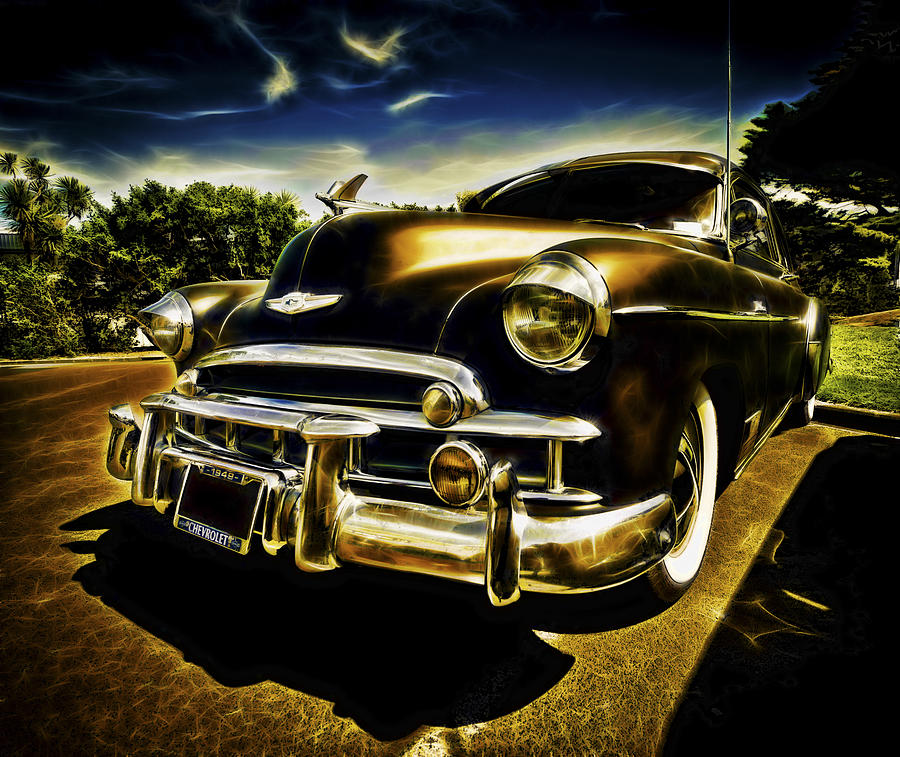 Custom Chevrolet Deluxe Photograph - 1949 Chevrolet Deluxe Coupe by motography aka Phil Clark