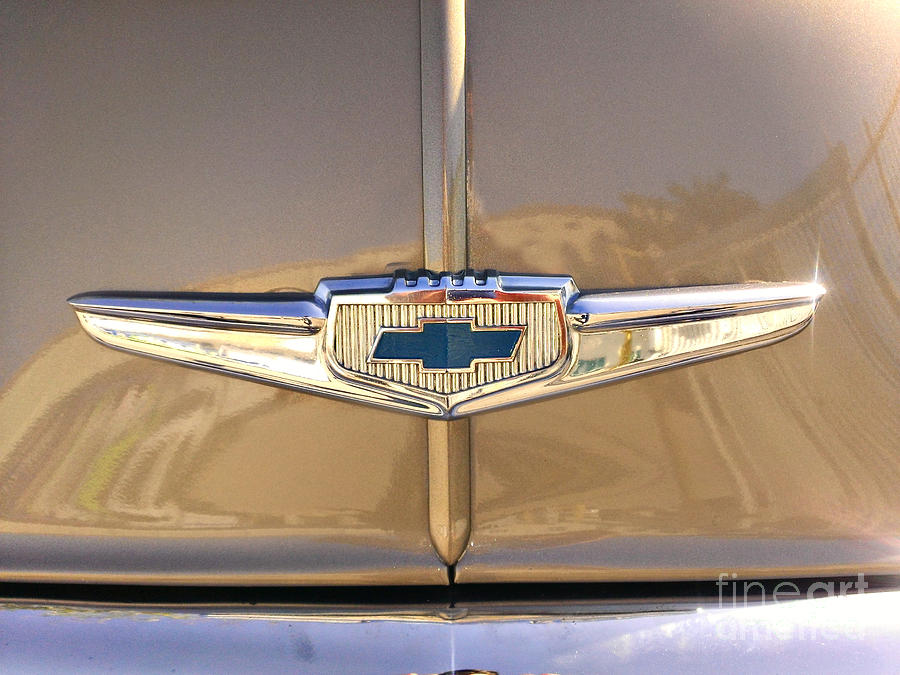 Car Photograph - 1949 Chevy Symbol  by Andres LaBrada