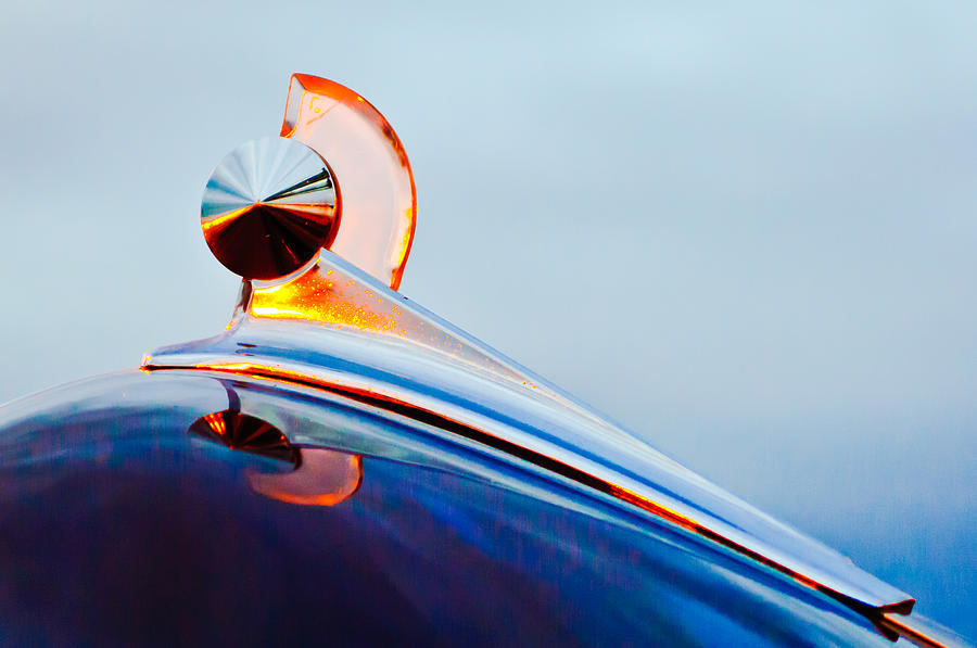 1949 Ford Photograph - 1949 Ford Hood Ornament 2 by Jill Reger