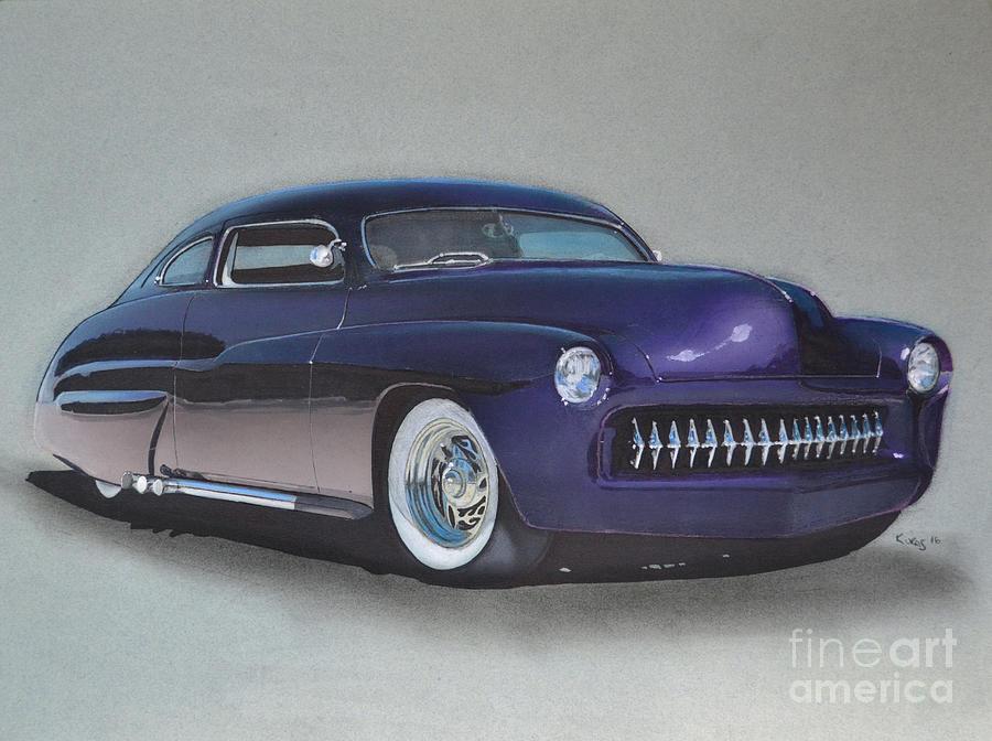 1949 Drawing - 1949 Mercury by Paul Kuras