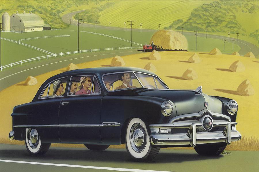 1950 Custom Ford Rustic Rural Country Farm Scene Americana Antique ...