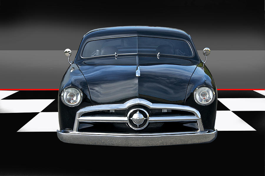 Auto Photograph - 1950 Ford Custom I by Dave Koontz